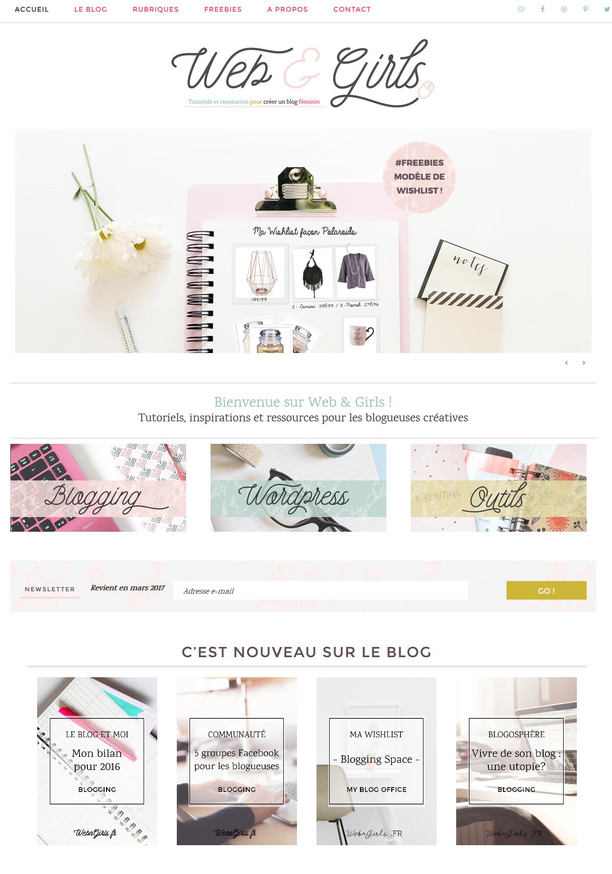 capture écran site web and girls