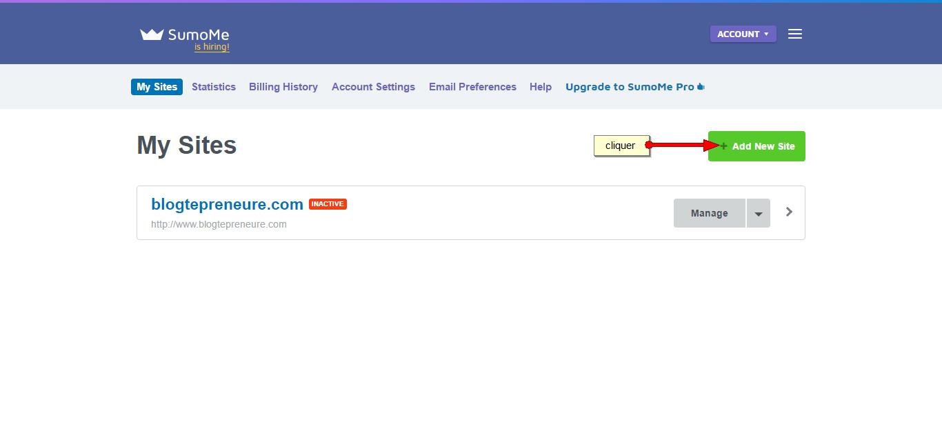 Sumome-add new site
