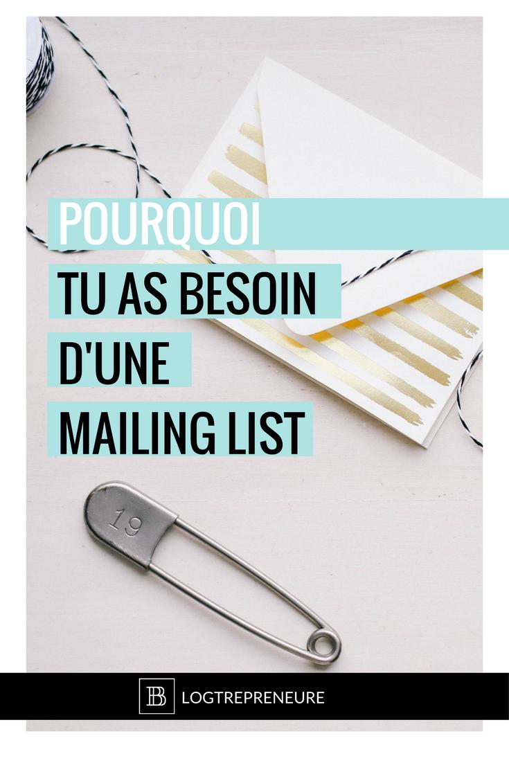 Pourquoi tu dois te bâtir une liste d'email