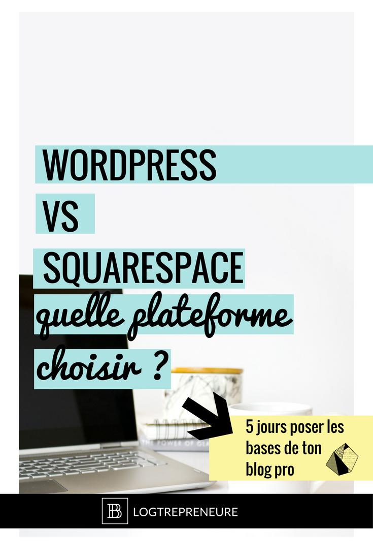quelle plateforme choisir wordpress squarespqce