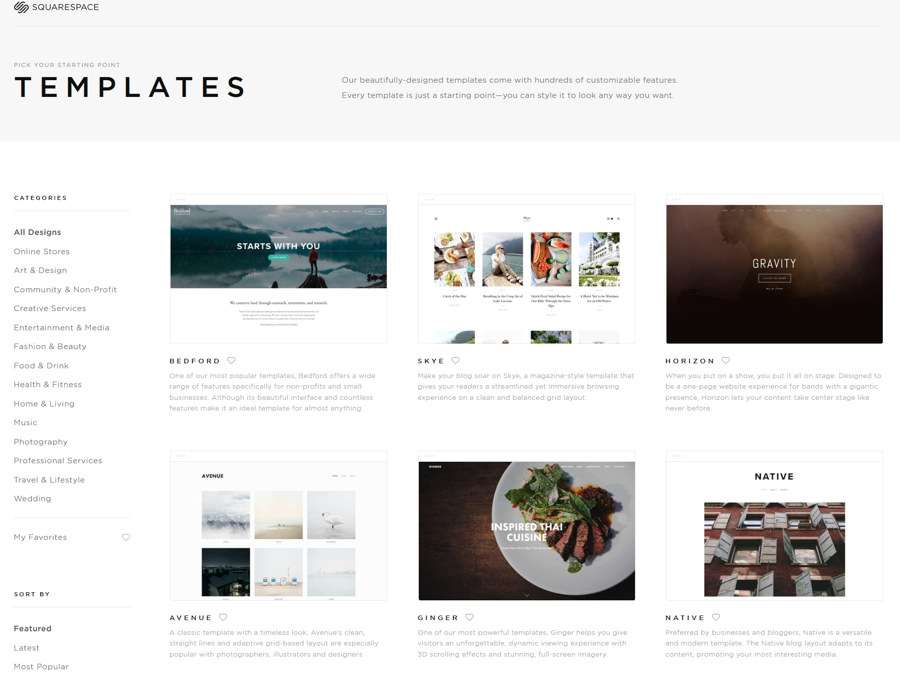 template squarespace screenshot