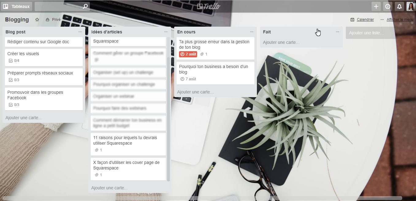 tableau trello blogging