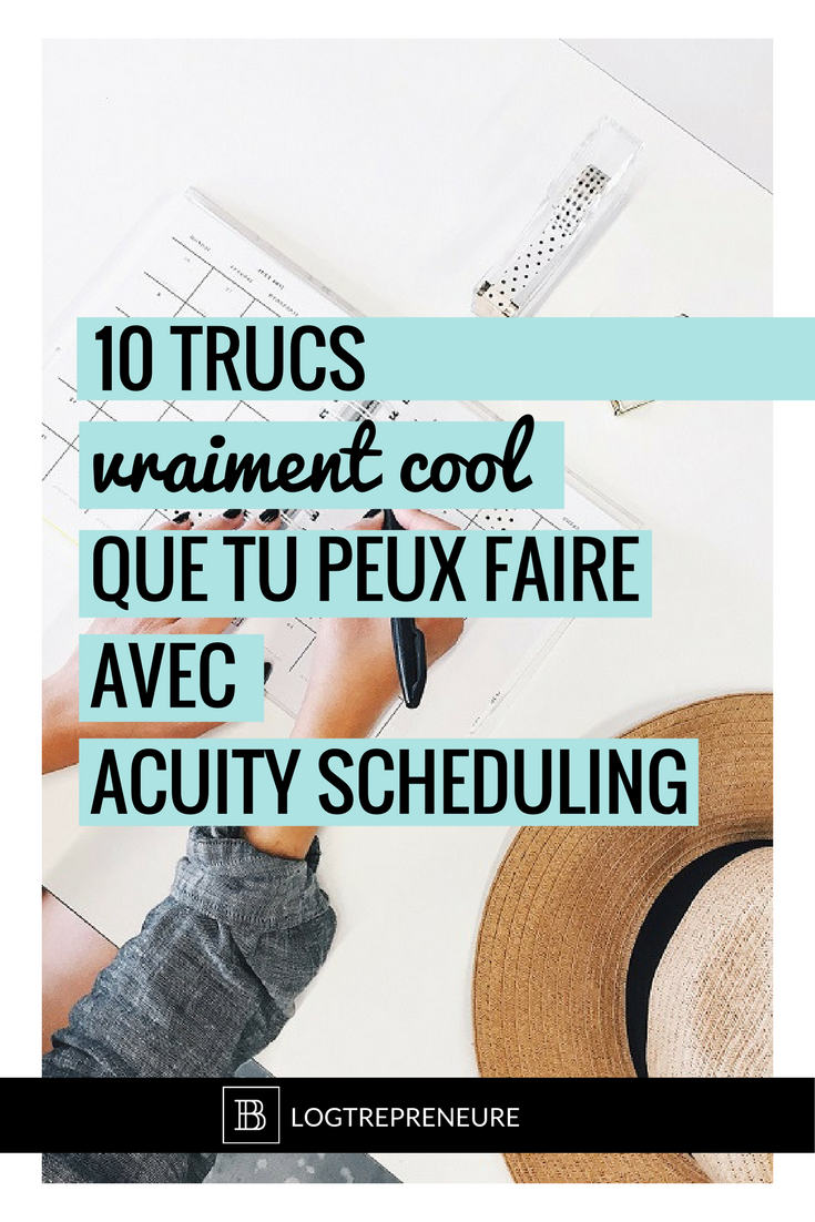fonctionnalités acuity scheduling
