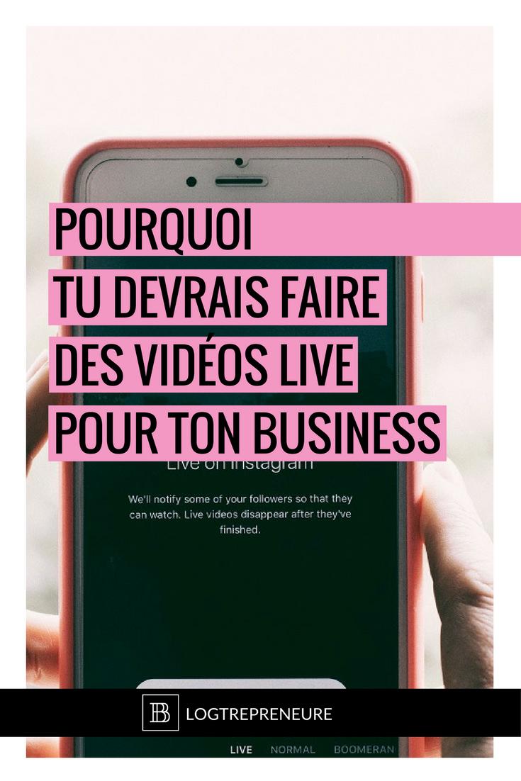 pourquoi faire des vidéos live pour développer son business