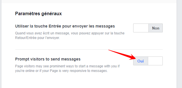 envoyer réponse automatique messenger