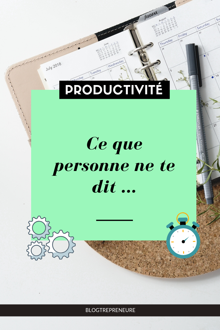 productivité secret