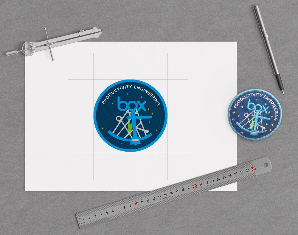 BoX Team Patch - Embroidered patch design to accompany team backpacks