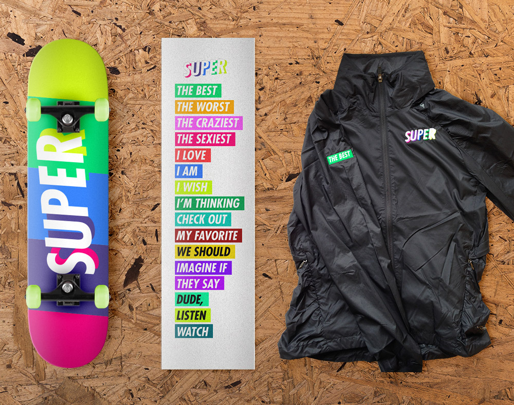 SUPER Skate Pack - Three-piece staff holiday gift including windbreaker, grip tape and skateboard
