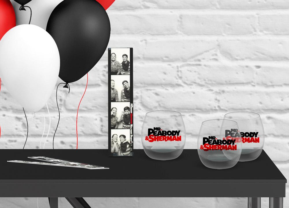 dreamworks crew gift - Commemorative glass and photos for Mr. Peabody & Shermanmilestone event