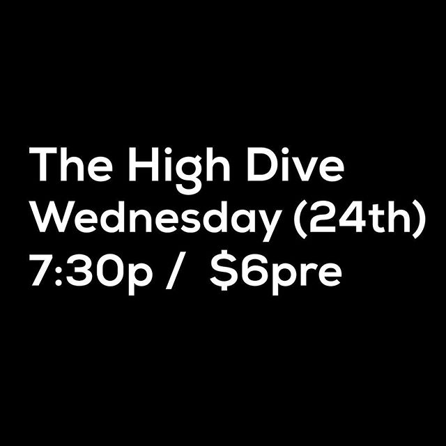 We are playing at the @highdiveseattle this Wednesday with @loftystills and @heck_yes_vervex !  Tickets are $6 rn, please come hang out with us. It's going to be absolutely rad. Tickets in our bio! . . . #bands #seattle #music #live #shows #create #discover #songs #artists #rock #indie #folk #ambient #electronic #pop #jam  #westcoast #pnw #promote #real #art #songwriter #perform
