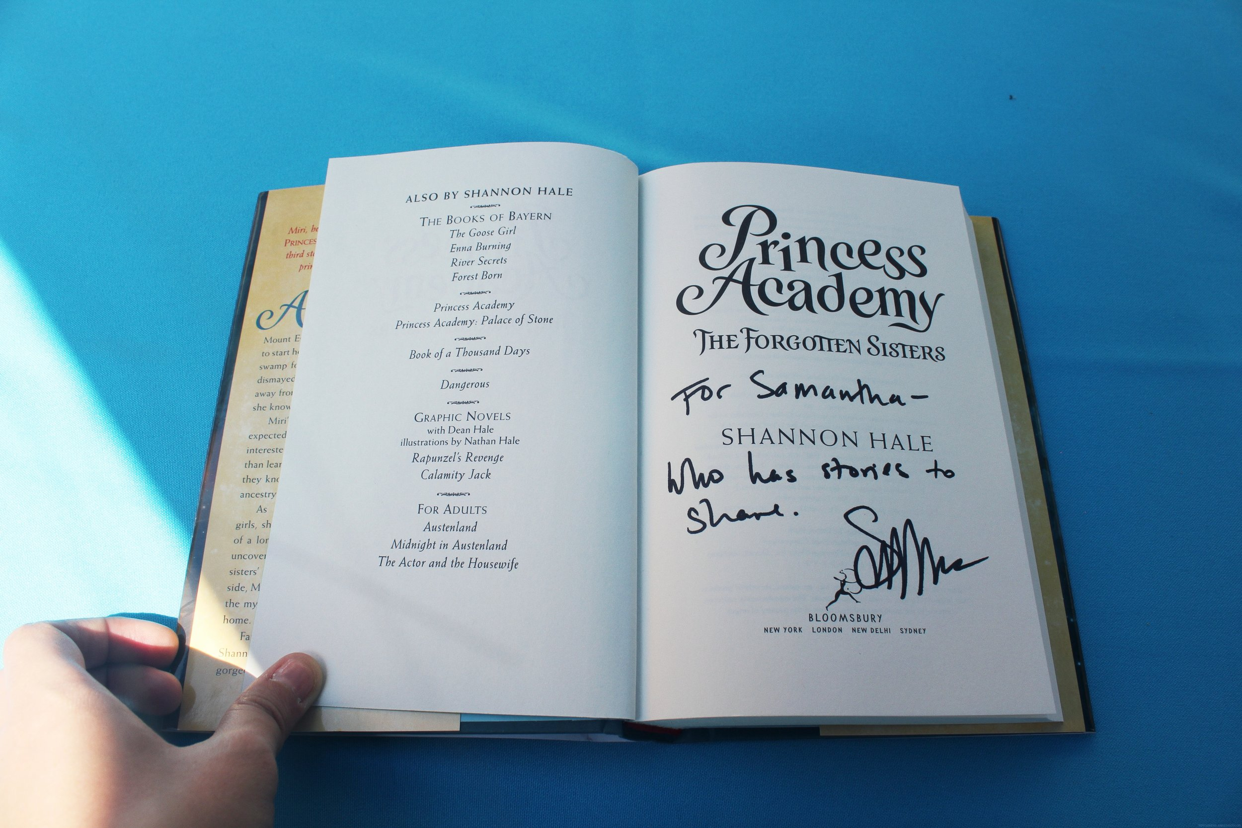 Princess Academy signed