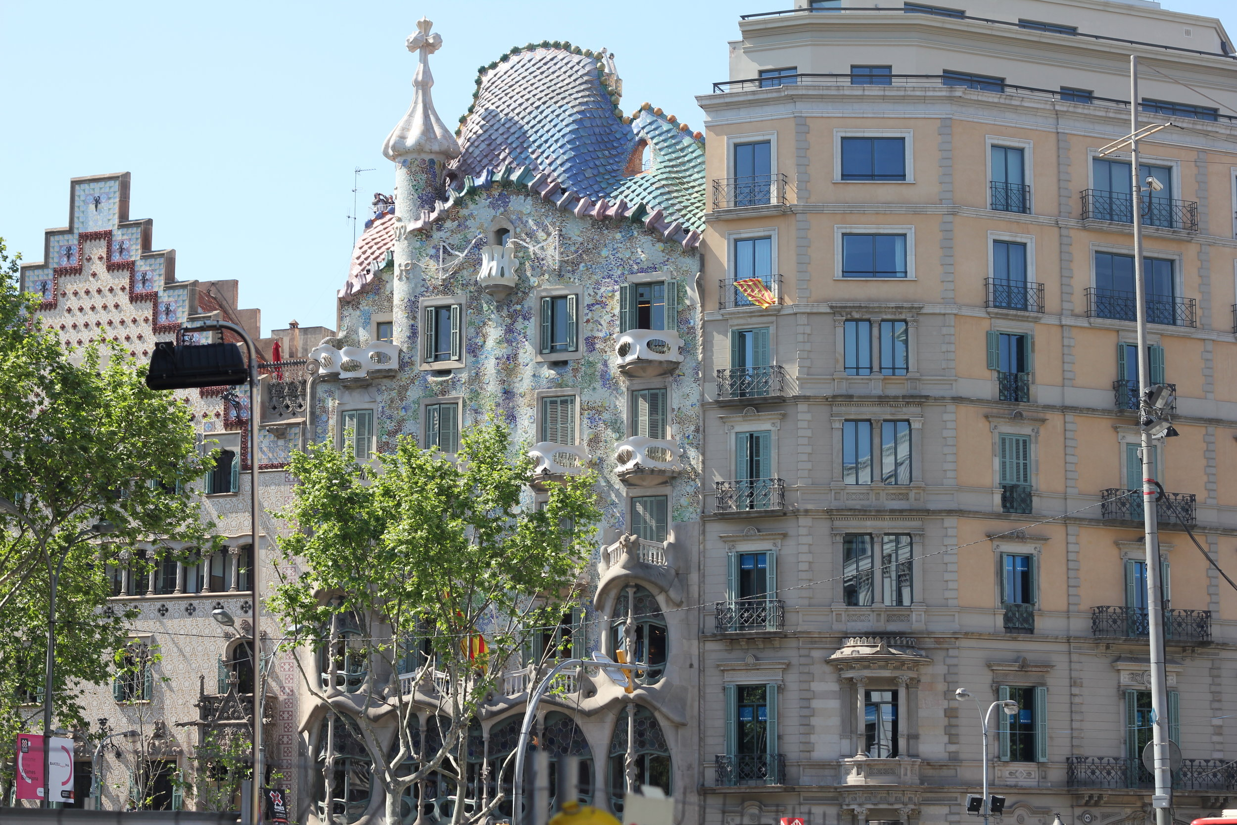 Casa Batlló, the one with the dragon scale roof