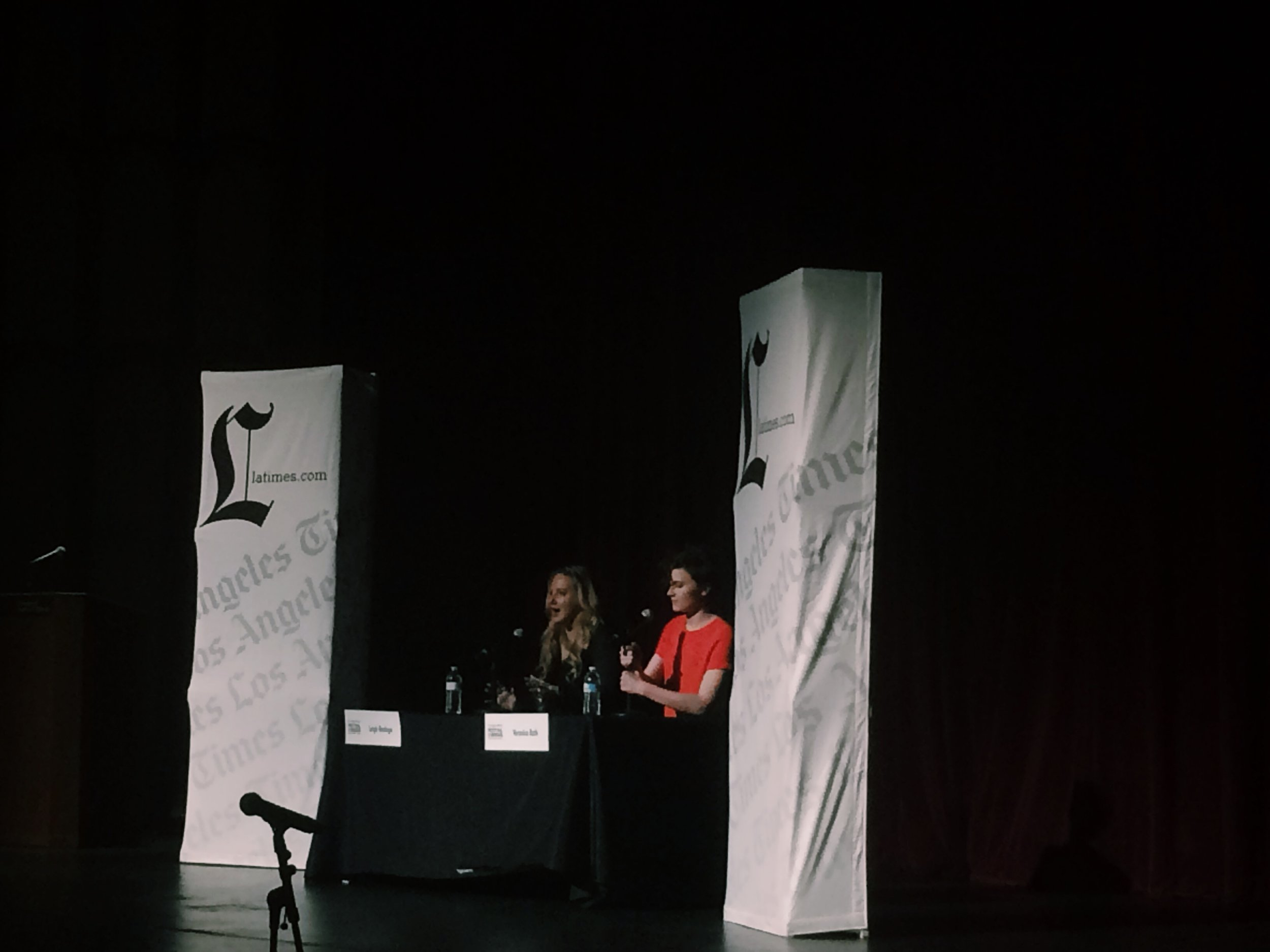 Left to right: Leigh Bardugo (SHADOW AND BONE) and Veronica Roth (DIVERGENT)