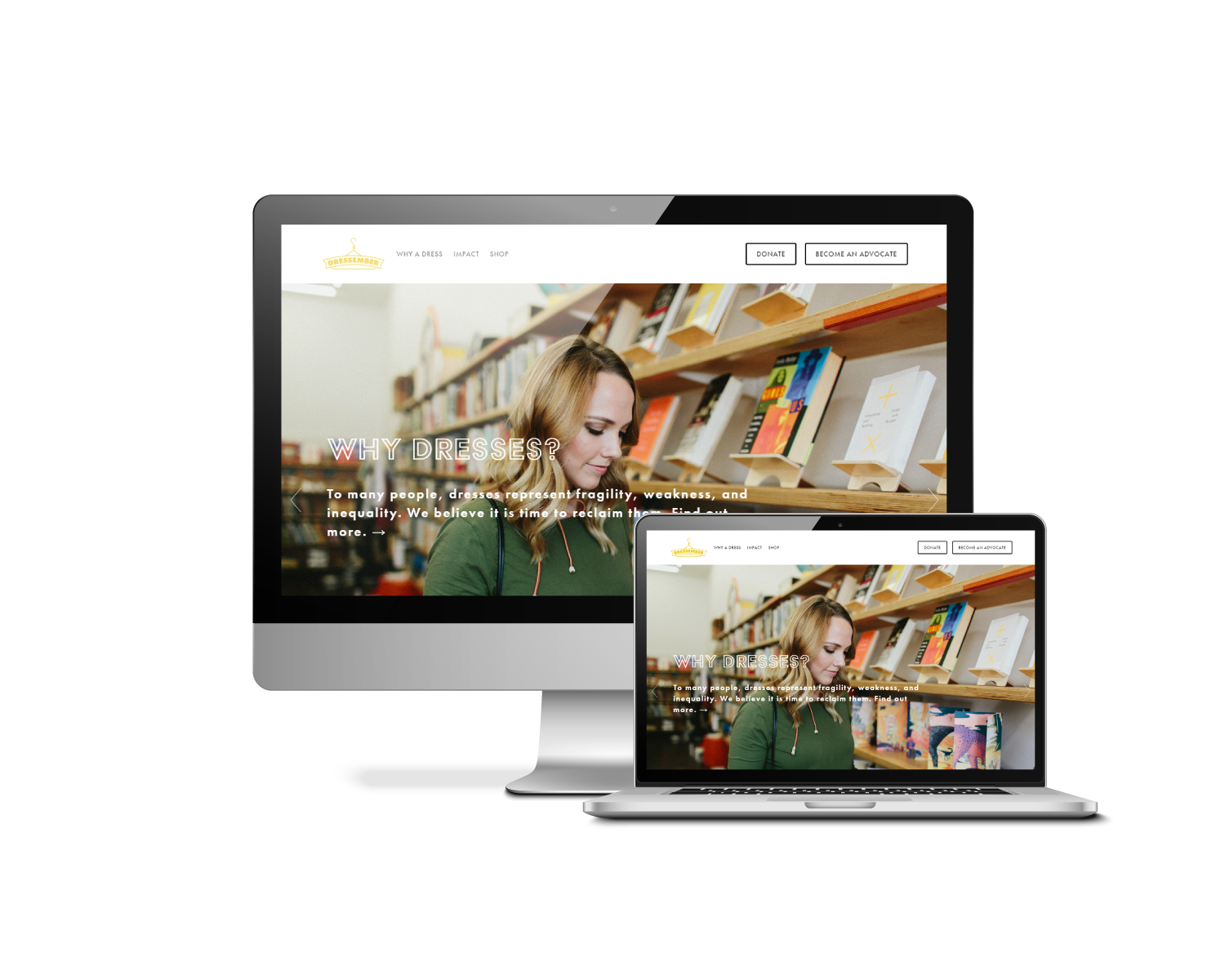 Above:    Homepage with parallax scroll and carousel with photography by    McFarlane Photography
