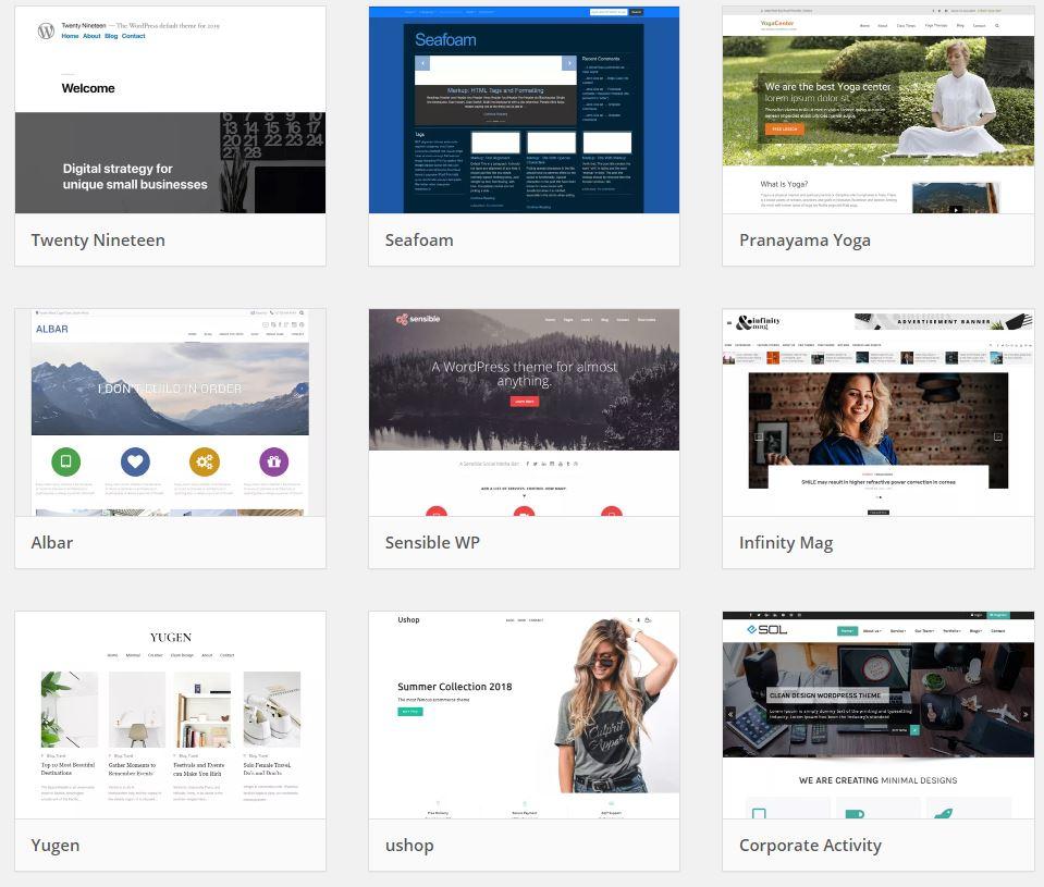 Some Wordpress Themes