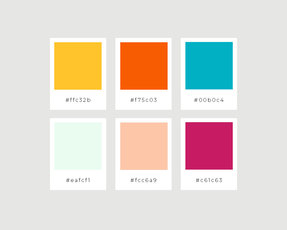 Above:    Amy Rose Events' color palette