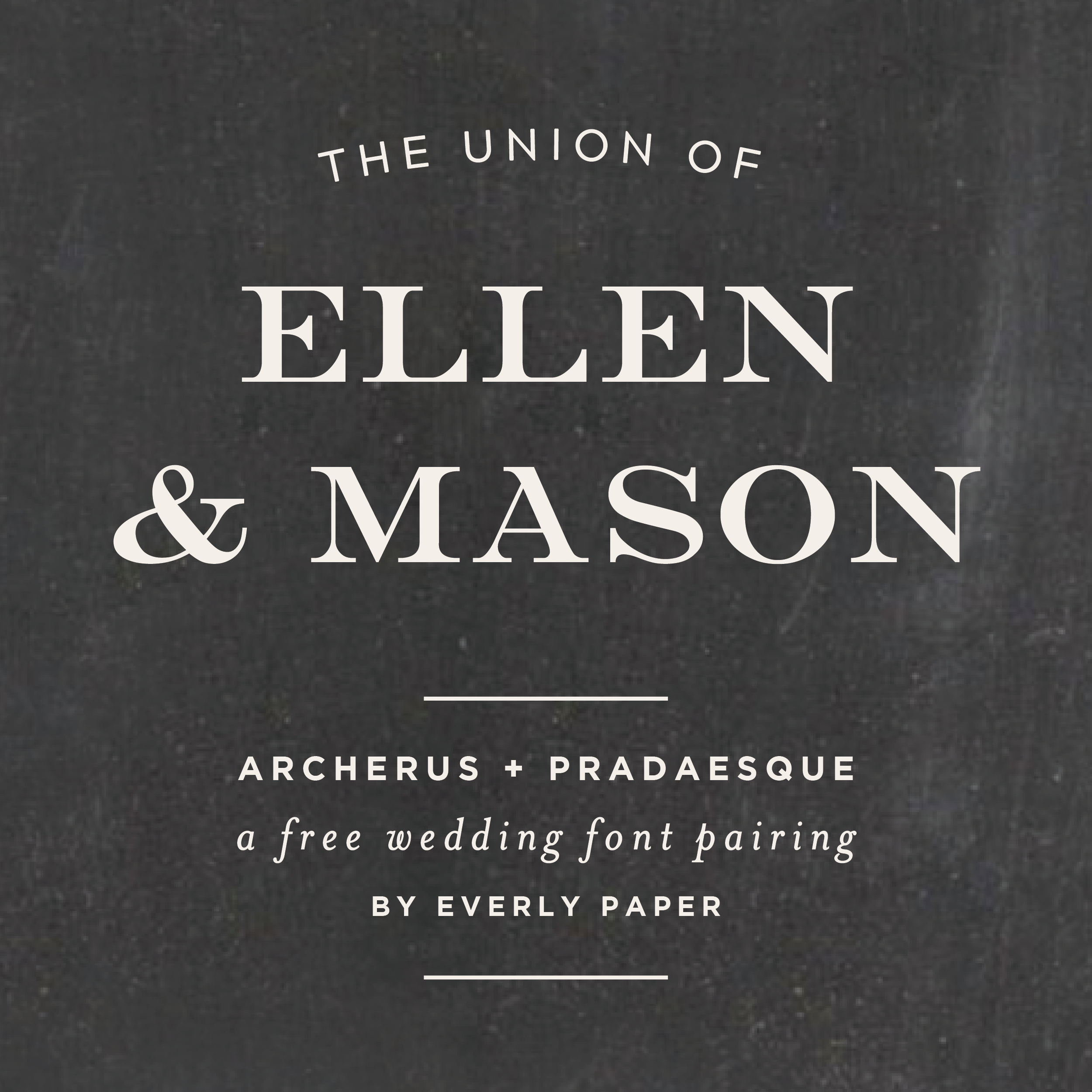 Free Wedding Font Combinations