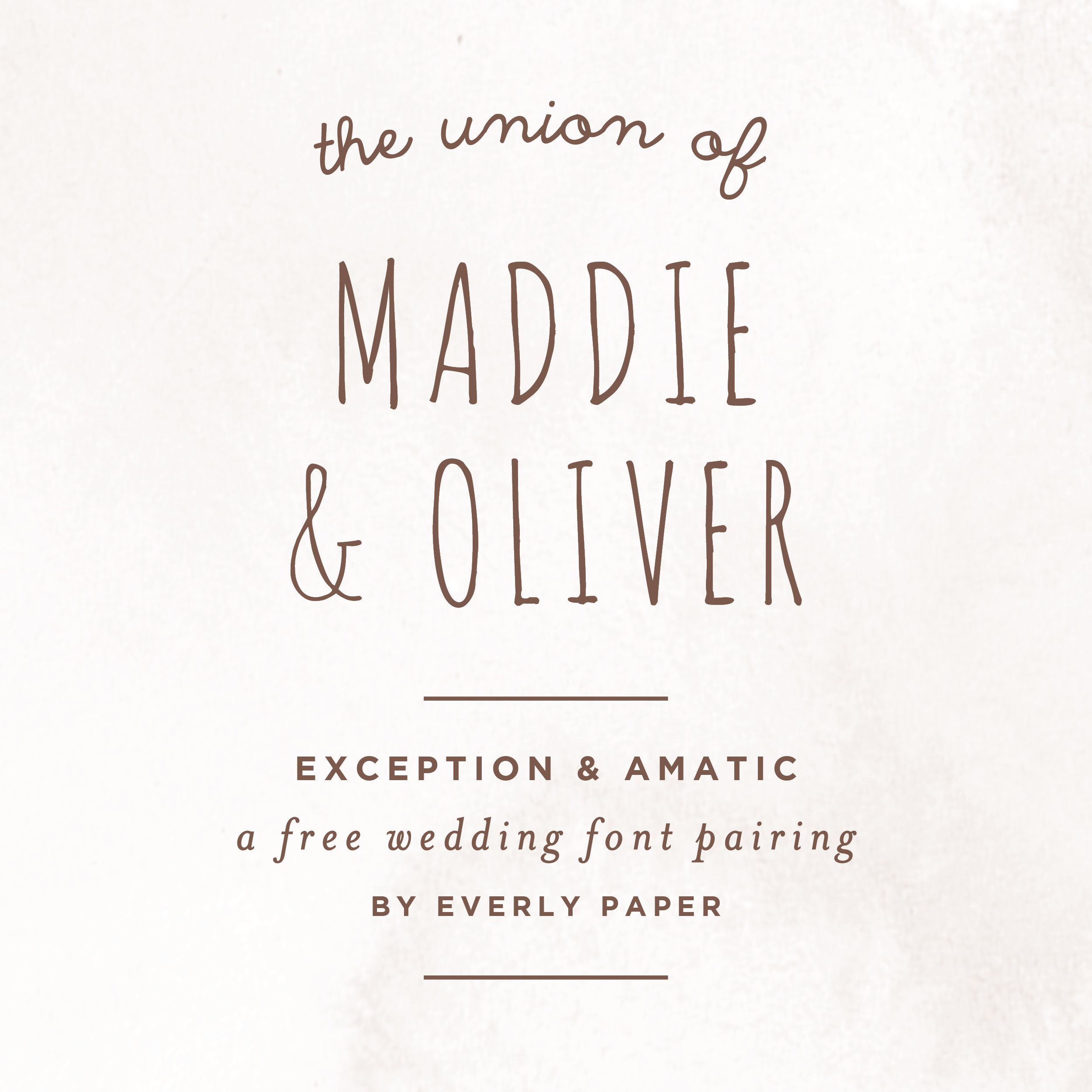 Free Rustic Wedding Fonts