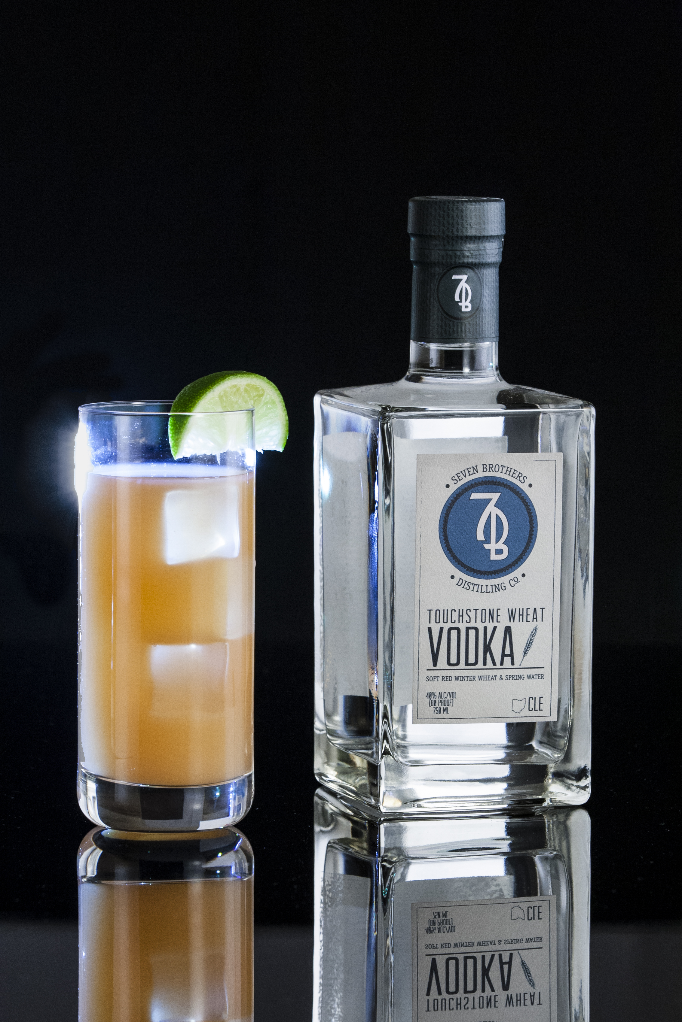 THE GREYHOUND BROTHERS - 1.5 oz Seven Brothers Touchstone Wheat VodkaGrapefruit JuiceCombine vodka and ice and grapefruit juice into a Collins glass. Stir and garnish with a lime wedge.