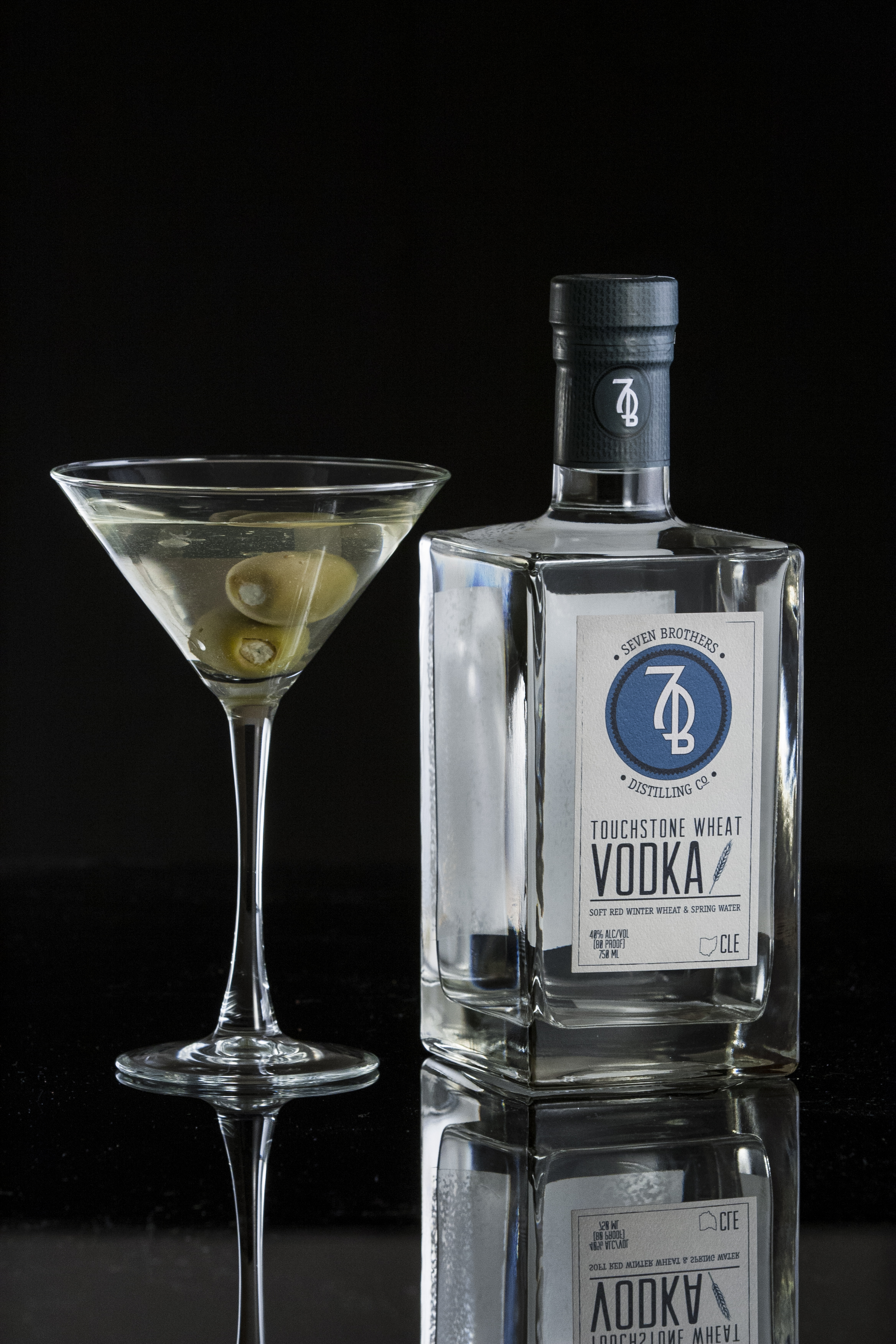 DIRTY 7B MARTINI - 3 oz Seven Brothers Touchstone Wheat Vodka.5 oz Dry Vermouth (Dolin).5 oz Olive Brine2-3 OlivesShake ingredients over ice and strain into a Martini glass. Garnish with 2-3 olives.