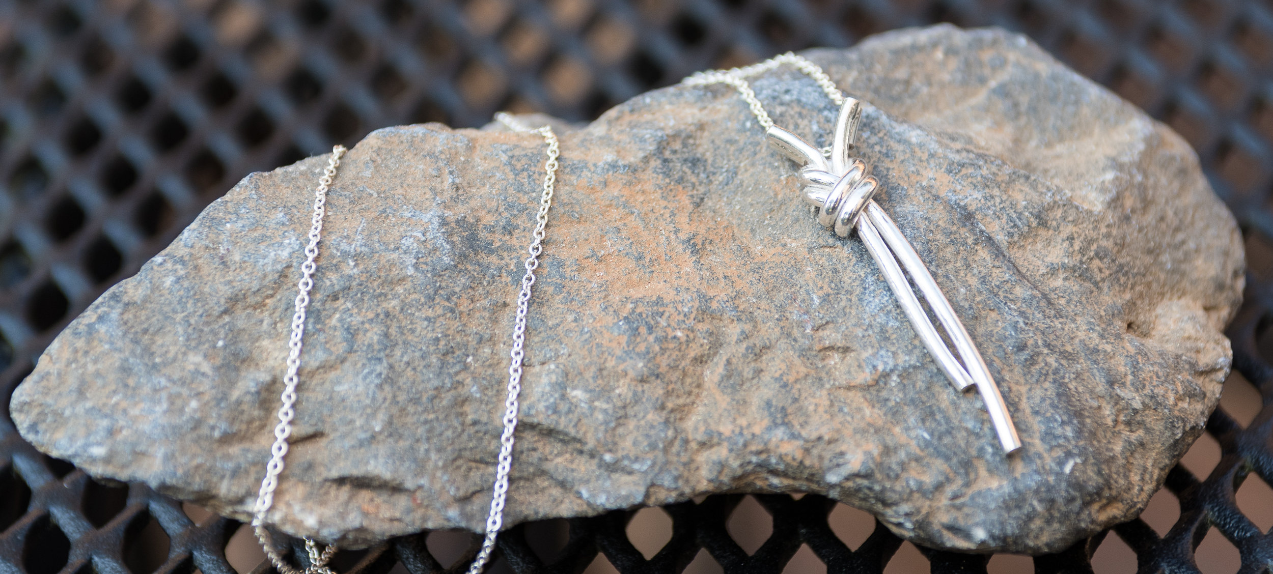 Bridesmaids sterling silver necklace