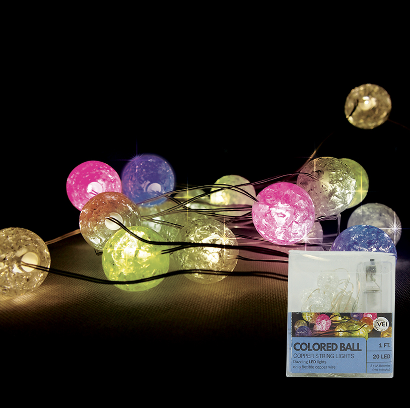 Multi Color Ball String Light - VG030-M