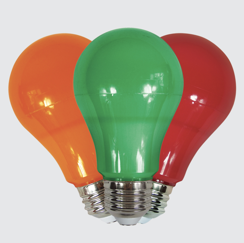 Colored Party Bulbs - V3 GR / OR / RD