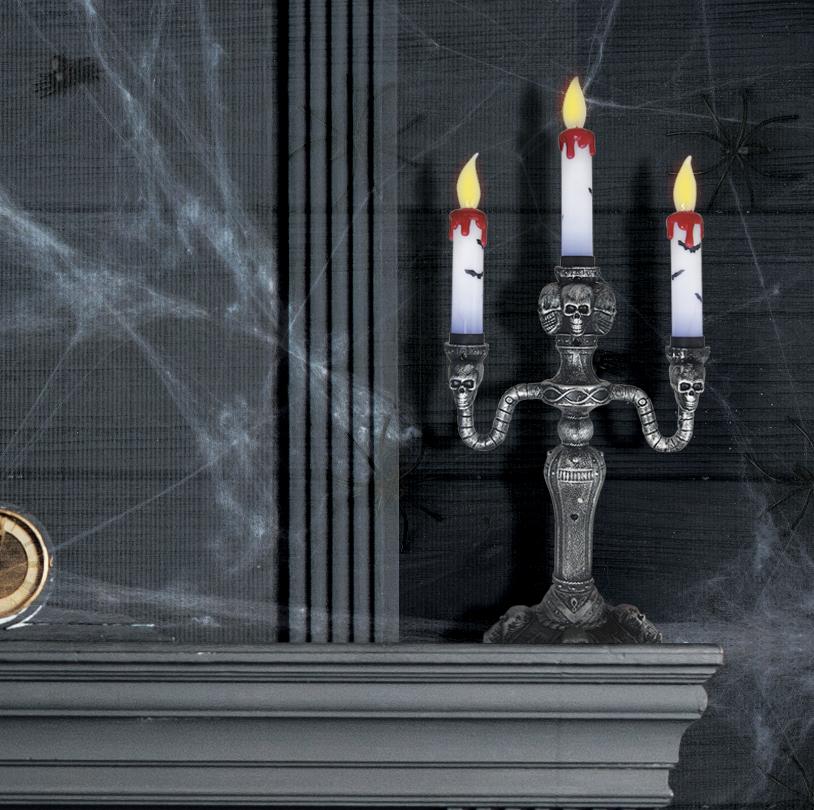 LED Skull Candelabra - V9408