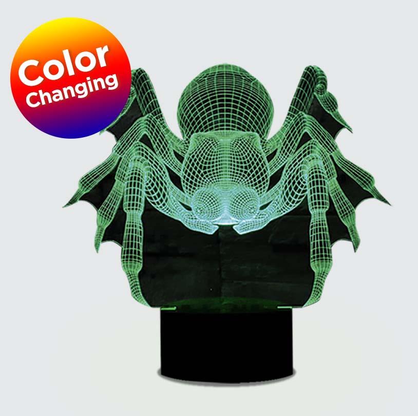 3D Edge Lit Spider - V6329