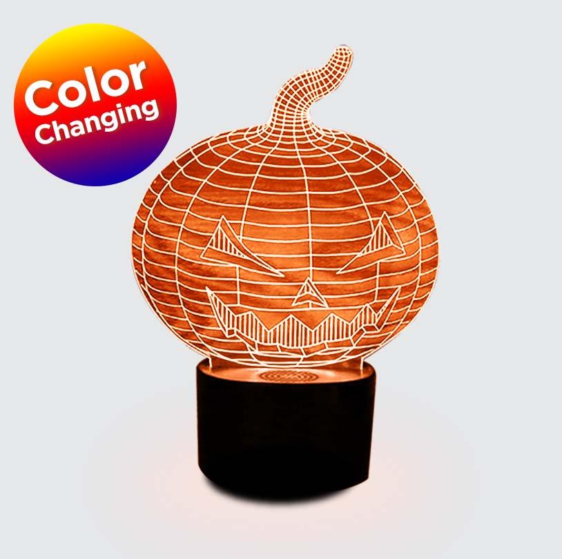 3D Edge Lit Pumpkin - V6218