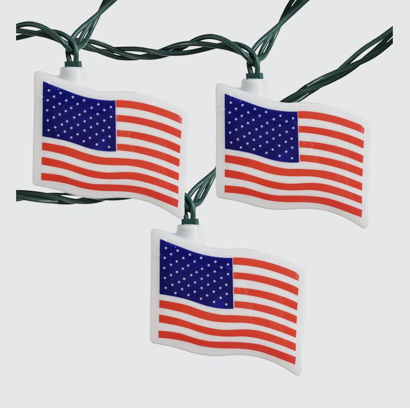 Patriotic Flag String Lights - VPS001