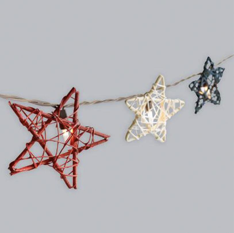 Rattan Star String Lights - VPS005