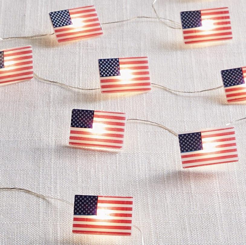 American Flag String Lights - VPS006