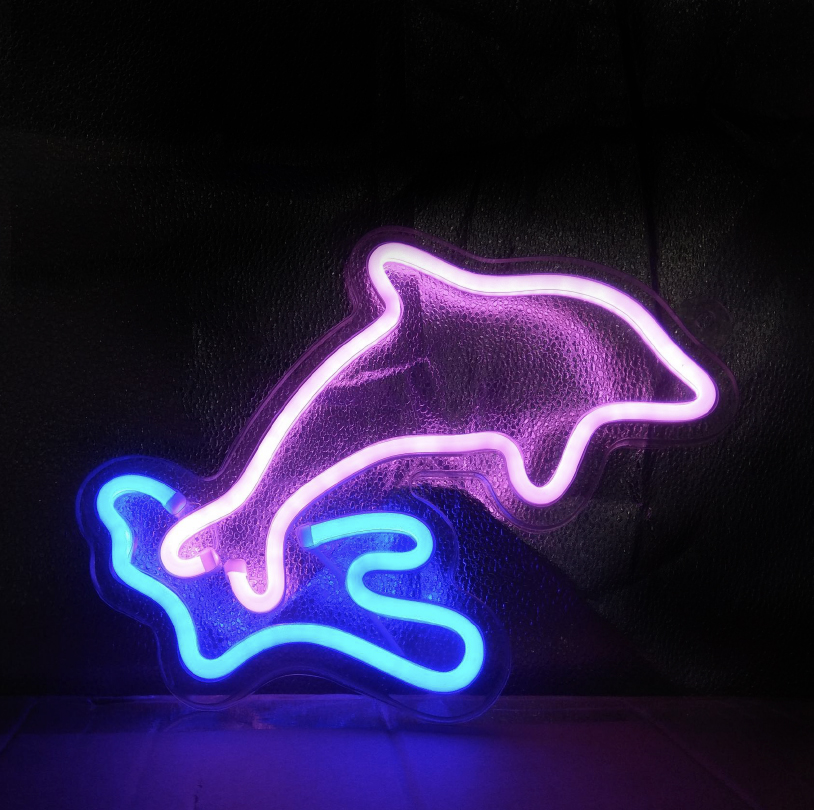 Dolphin Neon Sign - SNL05