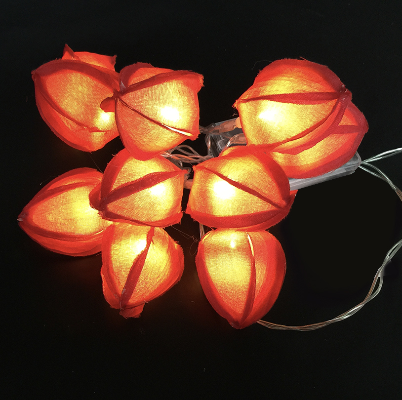 Orange Tulip String Lights - V0281