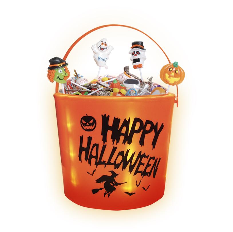 LED Light up Pumpkin Bucket - V60081-O