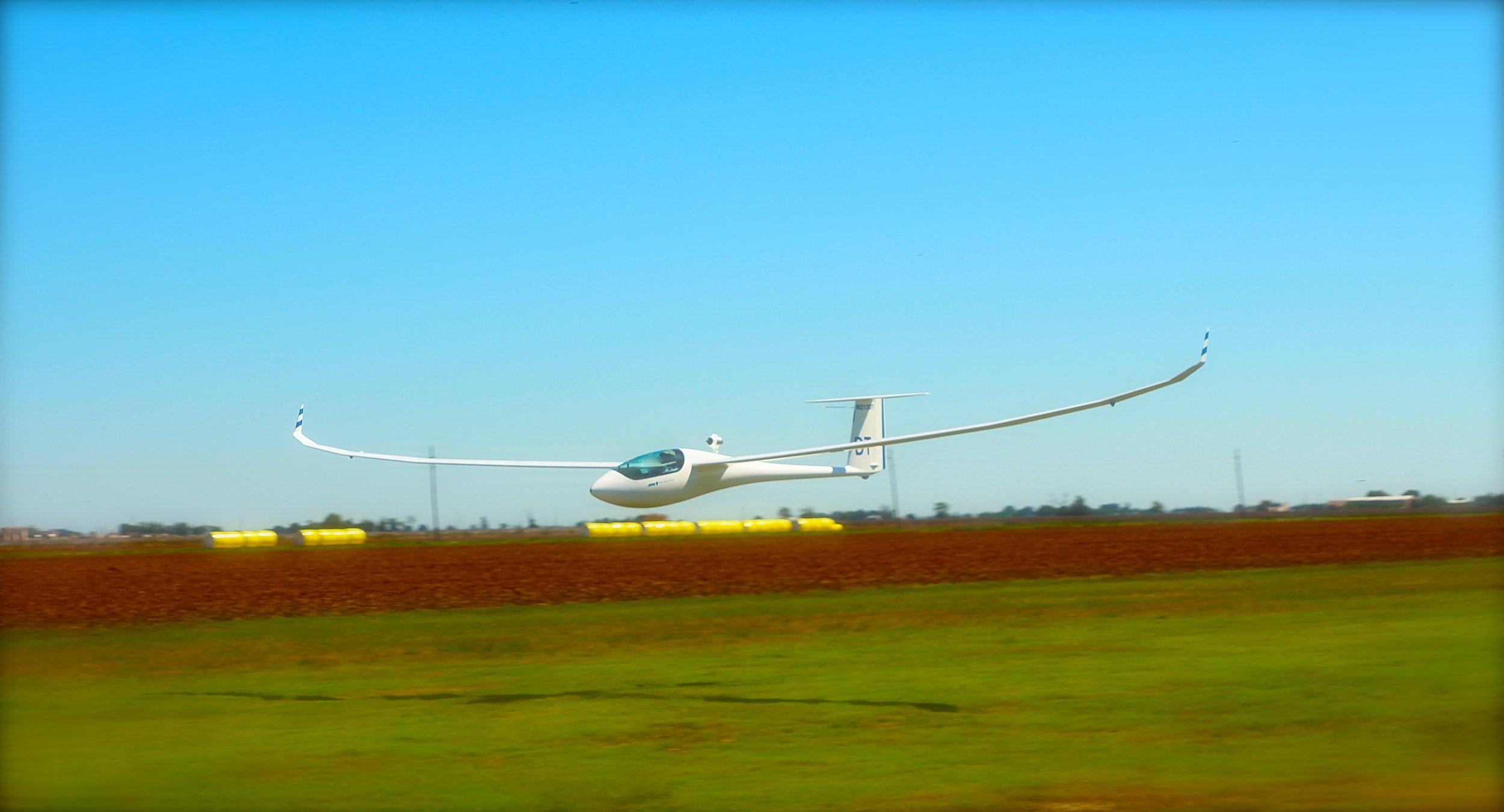 David pilots his JS1 glider.