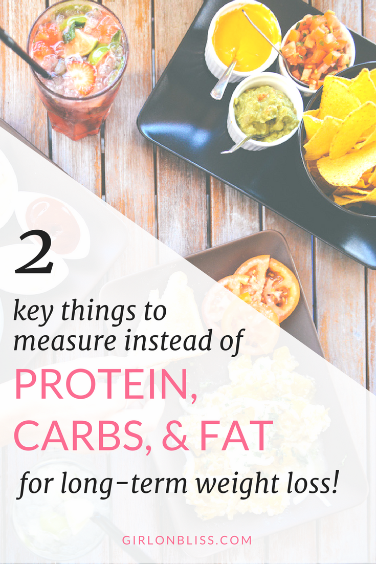 Measure Instead of Protein Carbs Fat