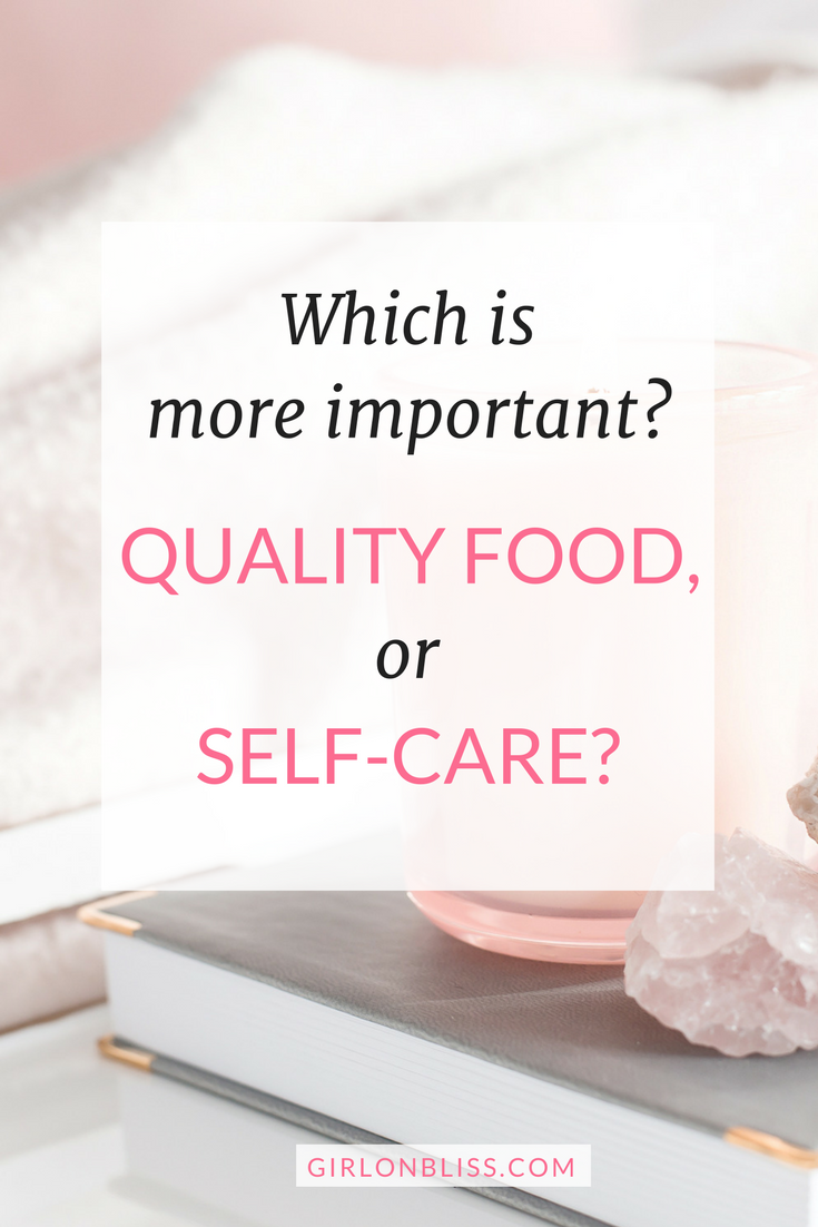 Which is more important? Self-Care or Nutrition?