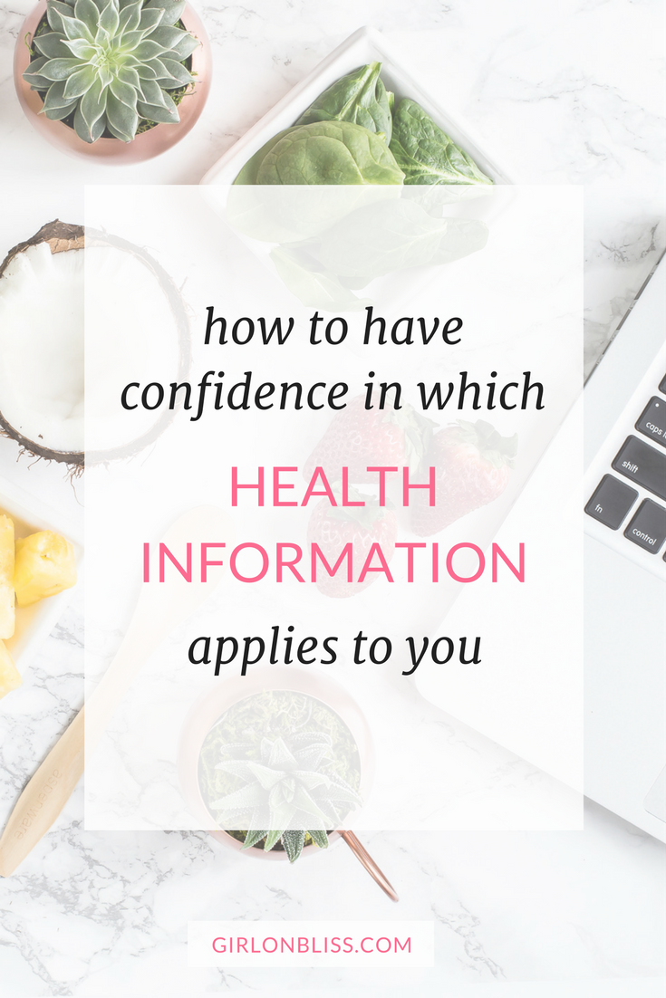 3 clues to clear overwhelm about what health information applies to you