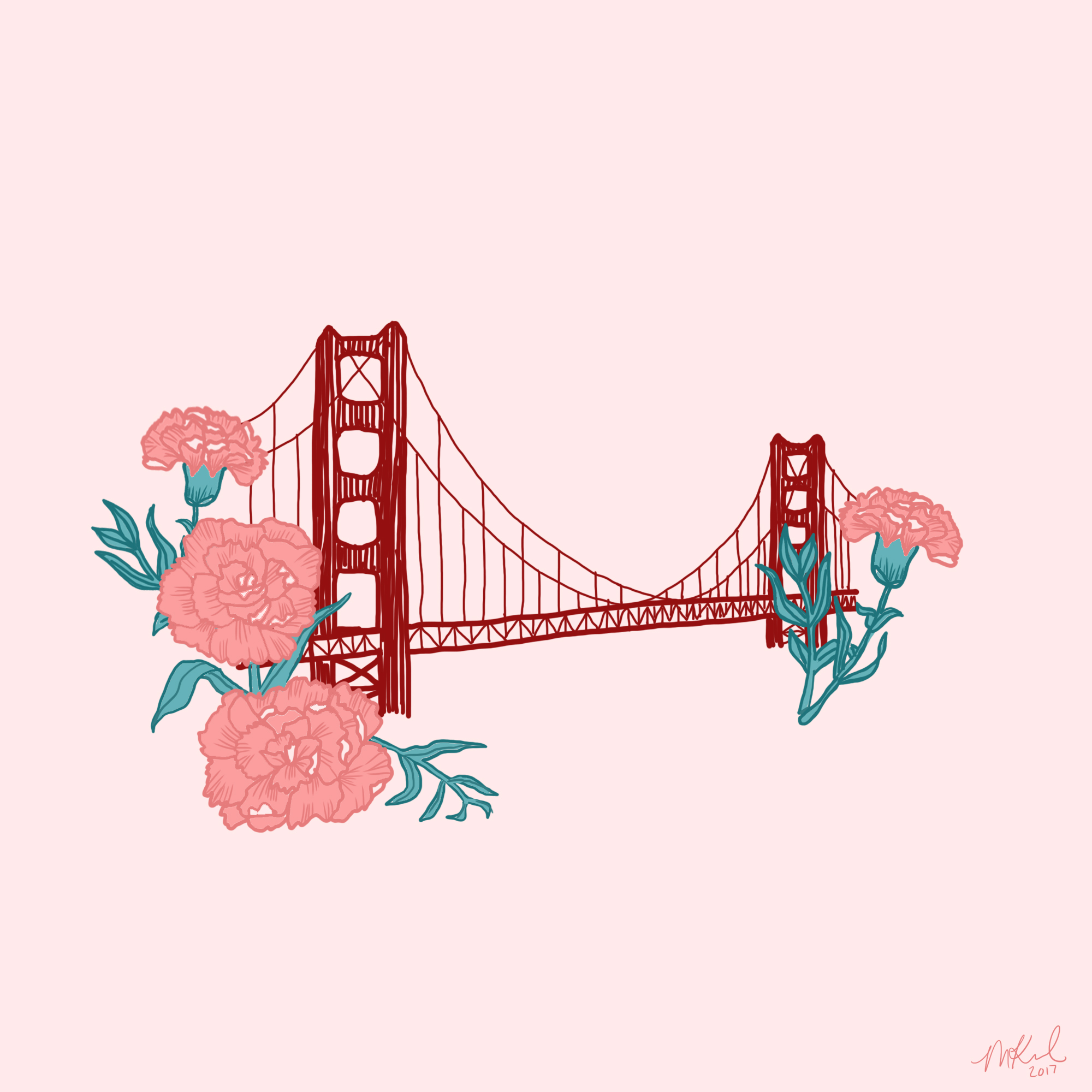 """Golden Gate Bridge"" (Inktober Day 7)"