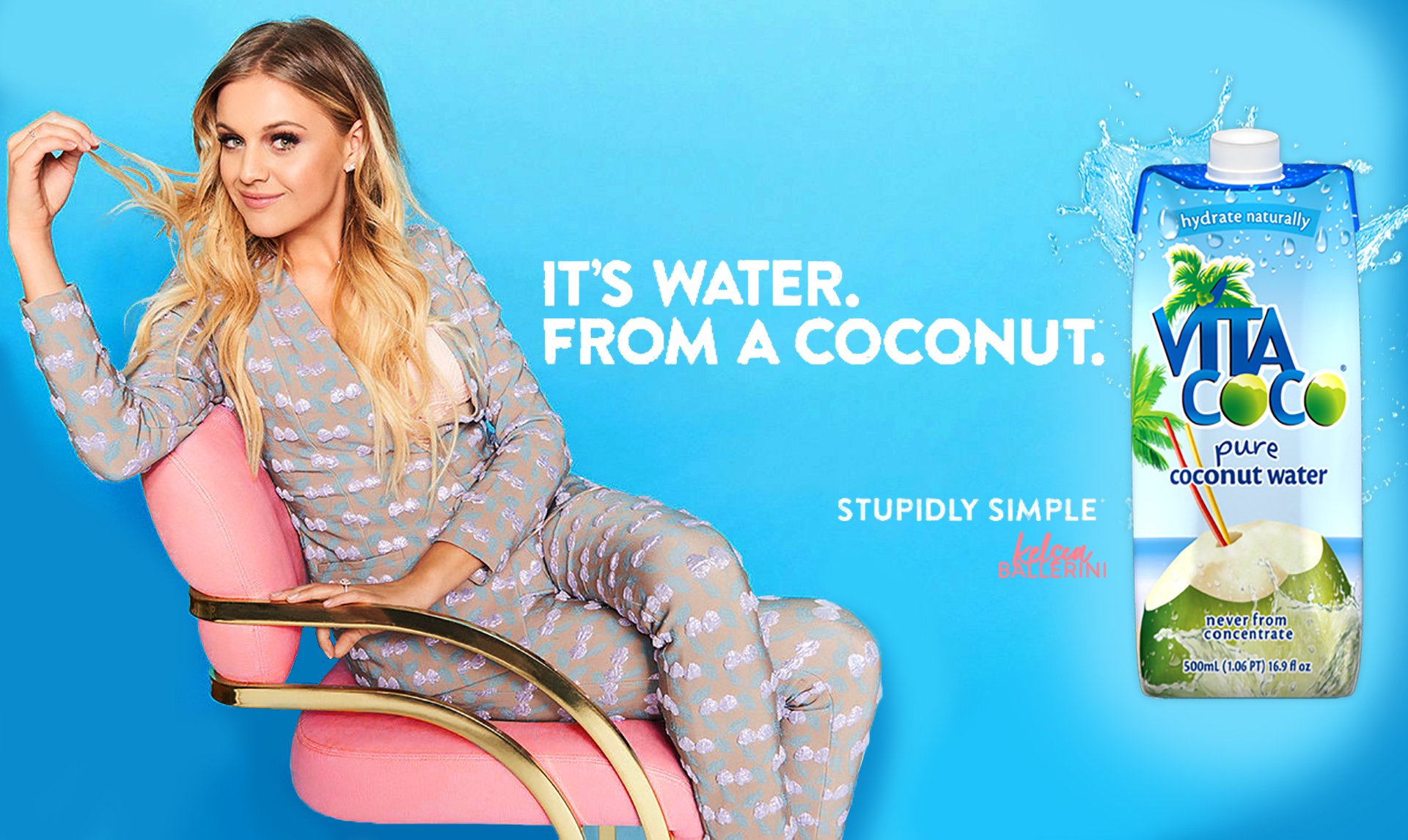 Option 2 Mock up for Kelsea Ballerini x VitaCoco Brand Endorsement. 2019.