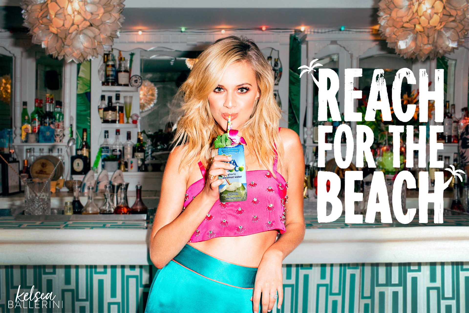 Mock up for Kelsea Ballerini x VitaCoco Brand Endorsement. 2019.