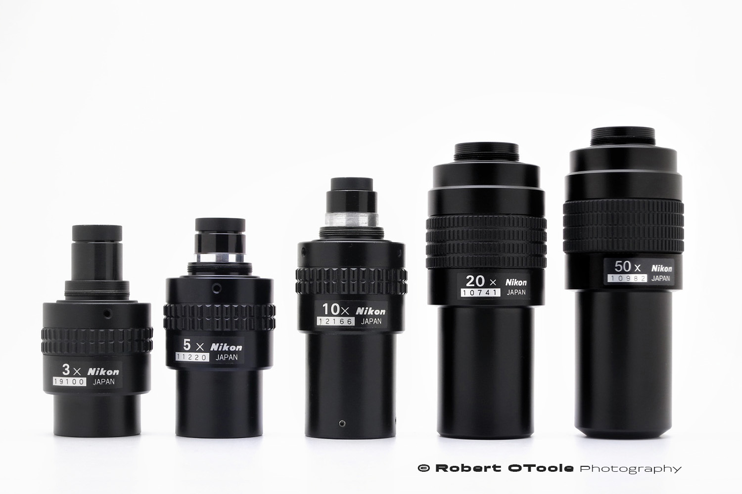 The Nikon MM objective lineup.