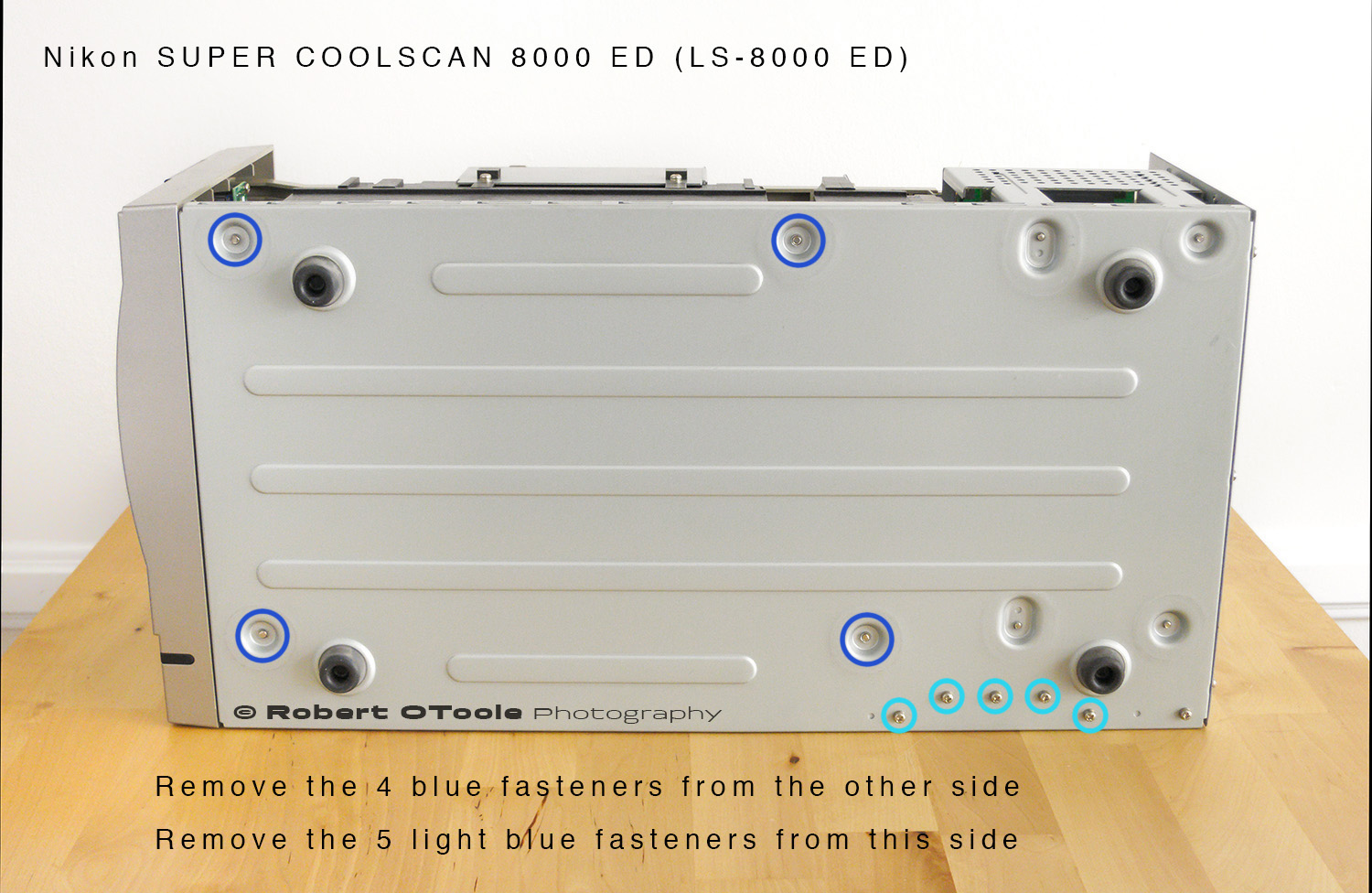 Front panel assembly for Nikon Super Coolscan LS 8000 ED scanner