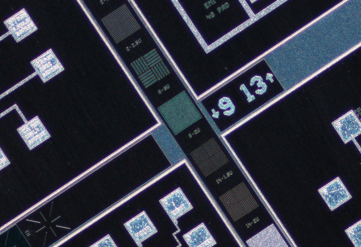 Nikon CFI Plan Fluor 4XA 4X/0.13 ∞/- Microscope Objective 100% actual pixel view center crop. Clicking on an image will open a larger version.