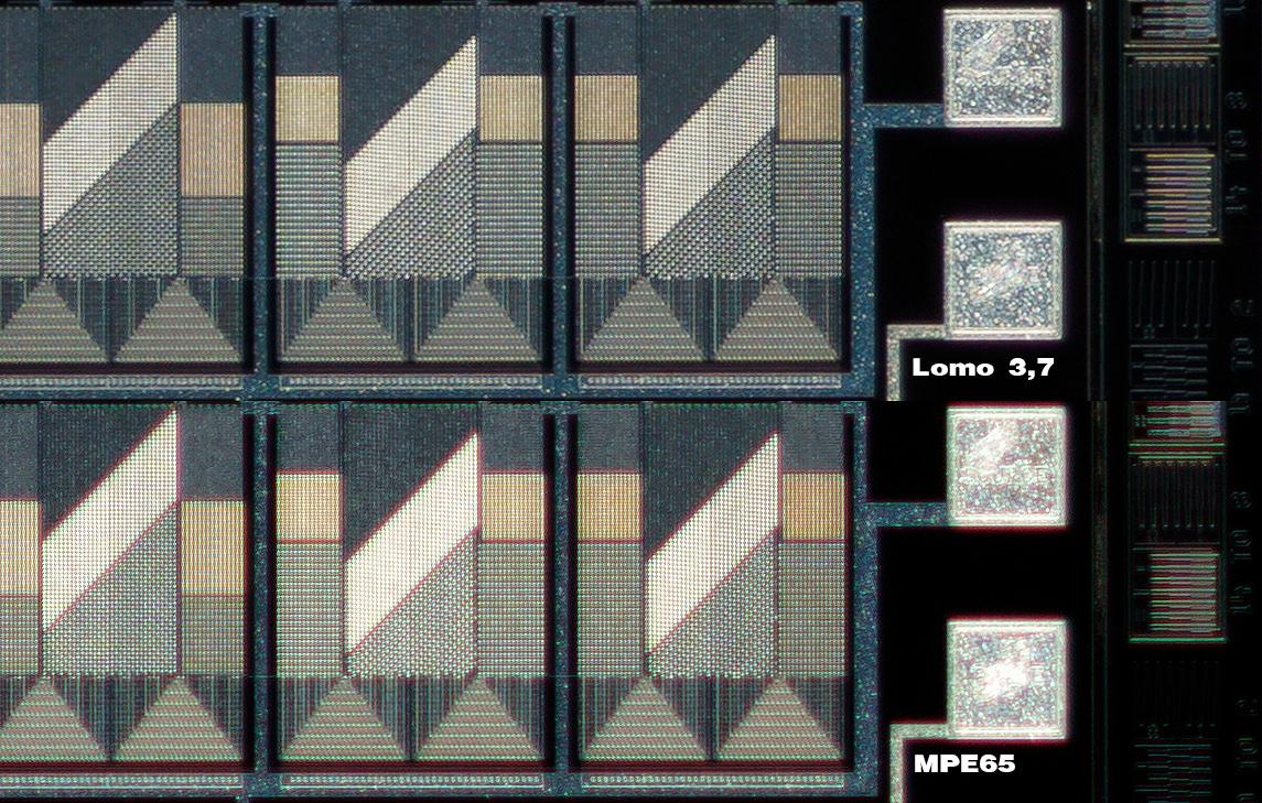 100% crop comparison, upper left edge