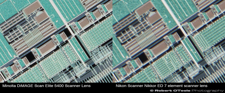 Minolta-DiMAGE-Scan-Elite-5400-Scanner-Lens-vs-Nikon-Scanner-Nikkor-ED-7-element-scanner-lens-2.25x-corners.JPG