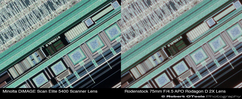 Minolta-DiMAGE-Scan-Elite-5400-Scanner-Lens-vs-Rodenstock-75mm-F4.5-APO-Rodagon-D-2X-lens-at-2.25x-Robert-OToole-Photography.JPG