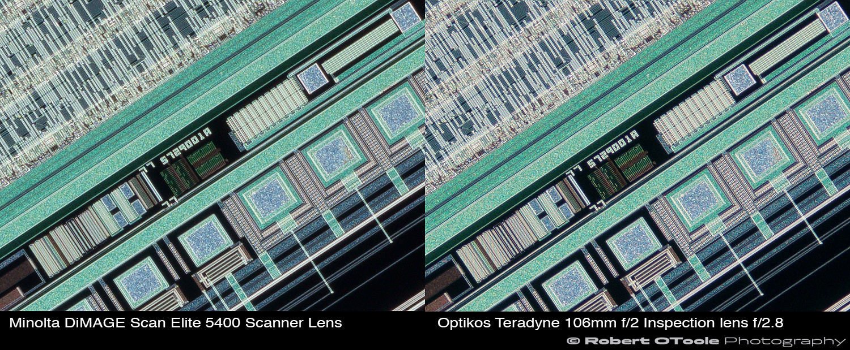 Minolta-DiMAGE-Scan-Elite-5400-Scanner-Lens-vs-Optikos-Teradyne-106mm-f2-Inspection-lens-at-2.25x-Robert-OToole-Photography.JPG